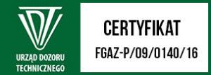 Certyfikat Dozoru technicznego
